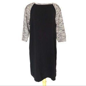LOFT Color Block Knit Shift Dress